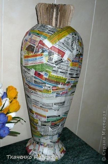 Сделать напольные вазы своими руками с